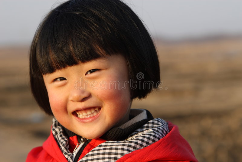 chińska dziewczyna szczęśliwa obrazy royalty free