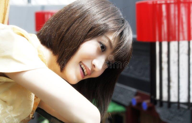 chińska dziewczyna uśmiech fotografia stock
