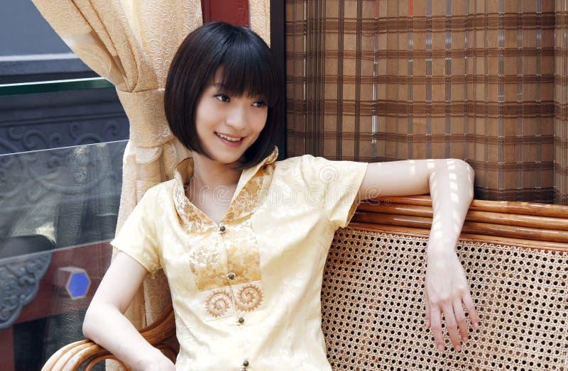 chińska dziewczyna uśmiech zdjęcie royalty free