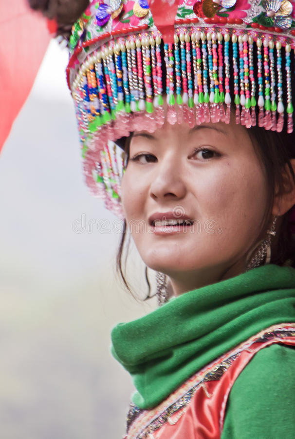 chińska etniczna dziewczyna obraz royalty free