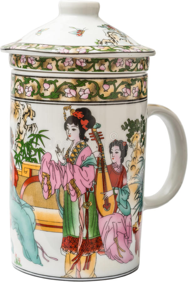 Chińska Herbaciana Porcelana obrazy stock