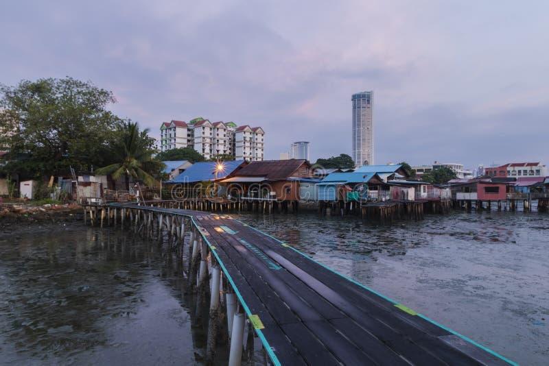 Chińska Klanowa Jetty społeczność Penang, Malezja obrazy stock