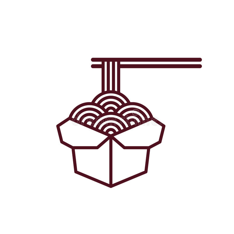 Chińska kluski ikona royalty ilustracja