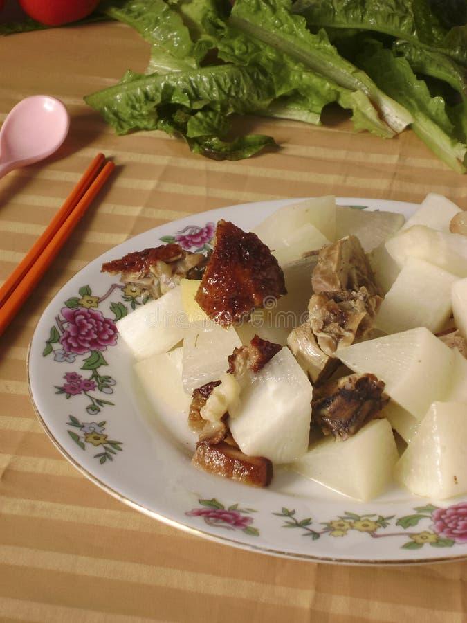 Chińska kuchnia piec kaczki rzodkwi gulasz obraz stock
