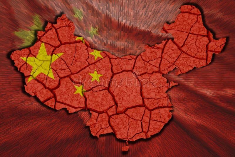 Chińska mapa royalty ilustracja