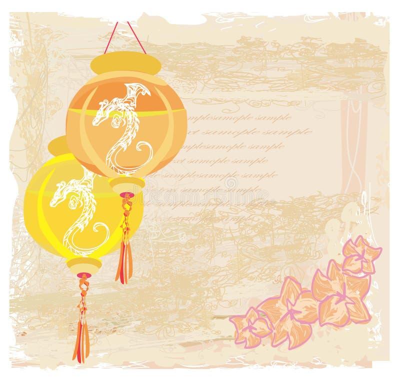 Chińska nowy rok karta ilustracja wektor