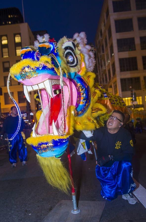 Chińska nowy rok parada zdjęcia royalty free