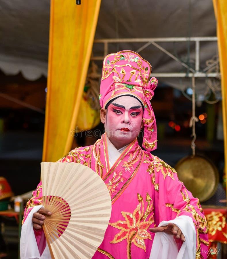 Chińska opera, aktorzy w występie obraz stock