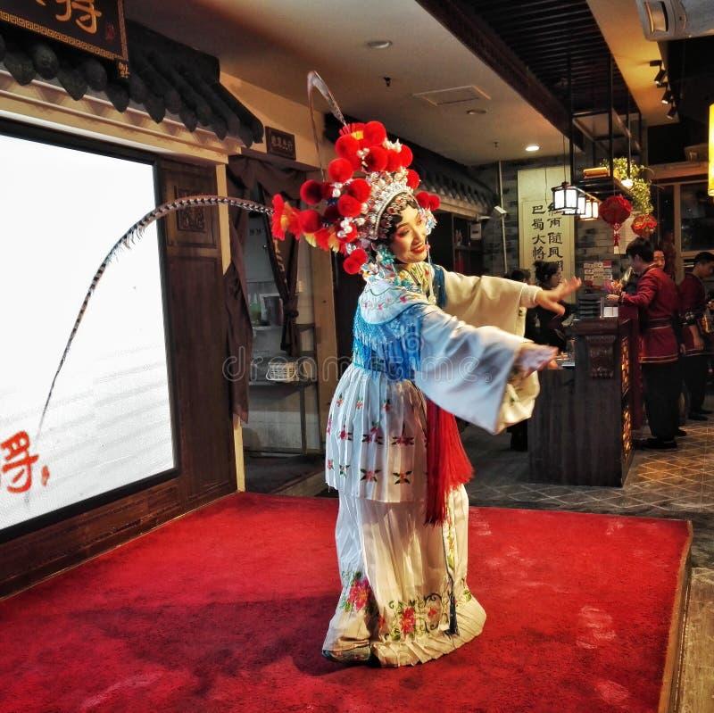 chińska opera Taniec, świąteczny zdjęcie stock