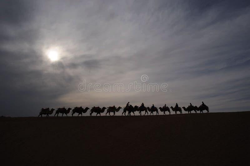 Chińska północno-zachodni Tengger pustynia zdjęcie royalty free