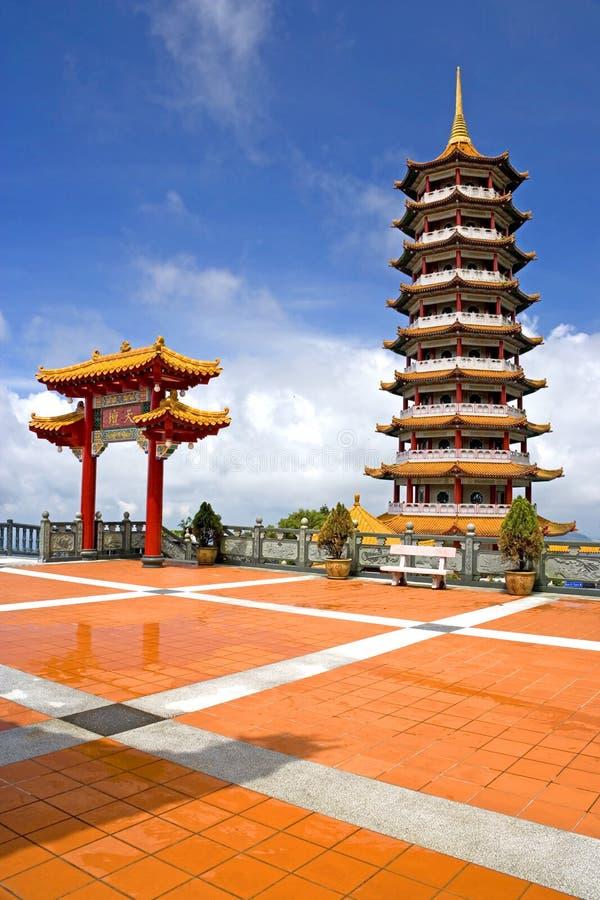 chińska pagodowa świątyni fotografia royalty free