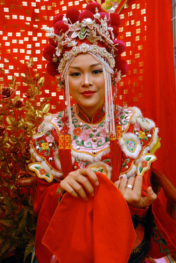 Chińska Panna młoda zdjęcia royalty free