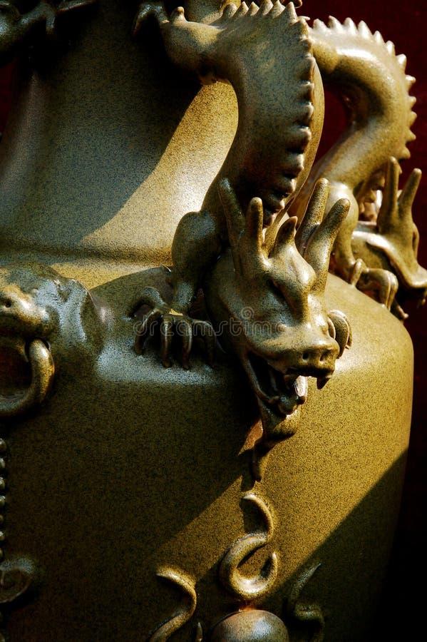 chińska porcelana smoka fotografia stock