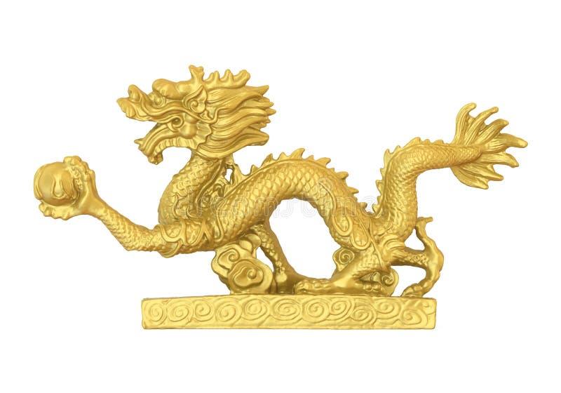 Chińska smok statua odizolowywająca ilustracji