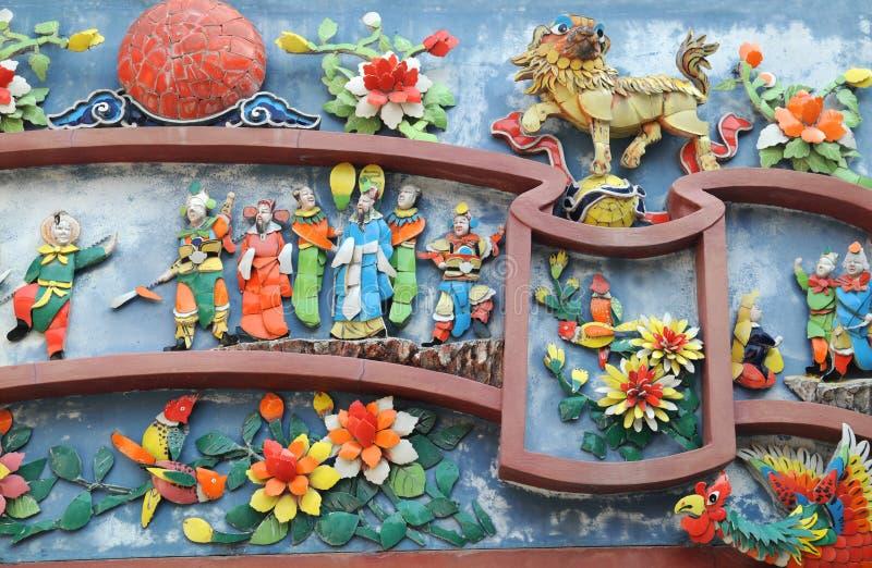 chińska szczegółu świątyni ściana zdjęcie stock