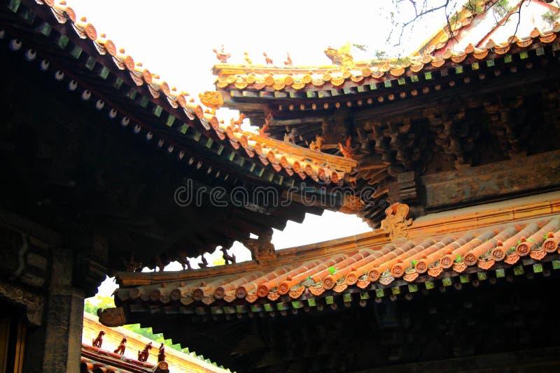 Chińska tradycyjna klasyczna drewniana architektura obrazy royalty free