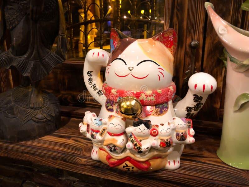 Chińska tradycyjna kot zabawka zdjęcie stock