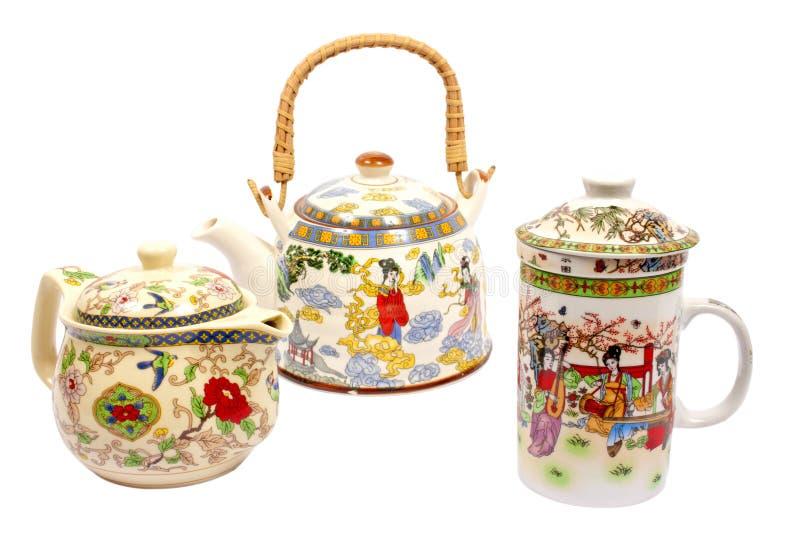 chińska ustalona herbata obrazy stock