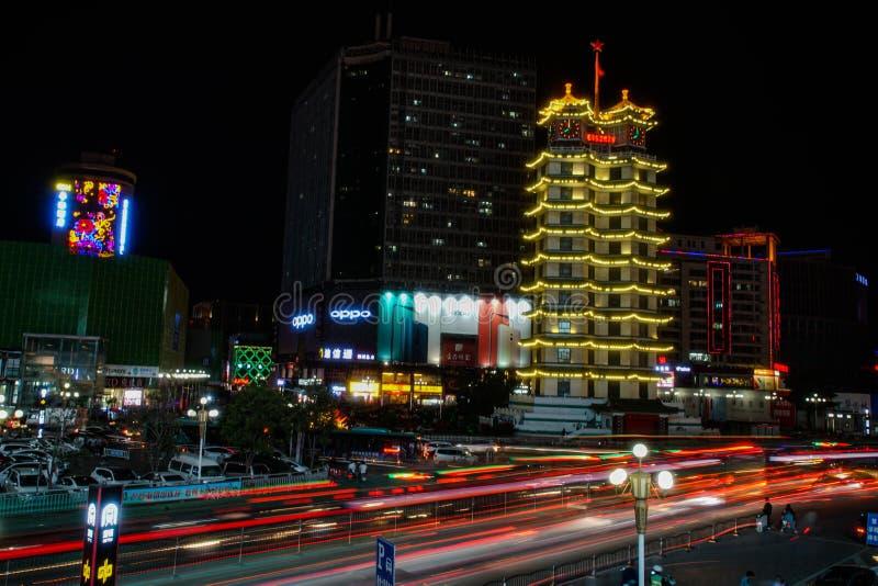 Chińska Wieża Pamięci Zhengzhou Erqi fotografia royalty free