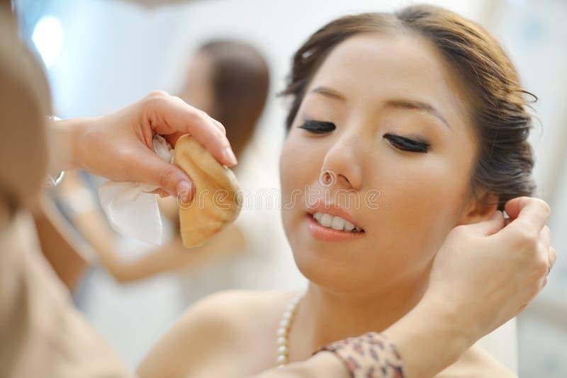 Chiński ślubny makeup zdjęcie stock