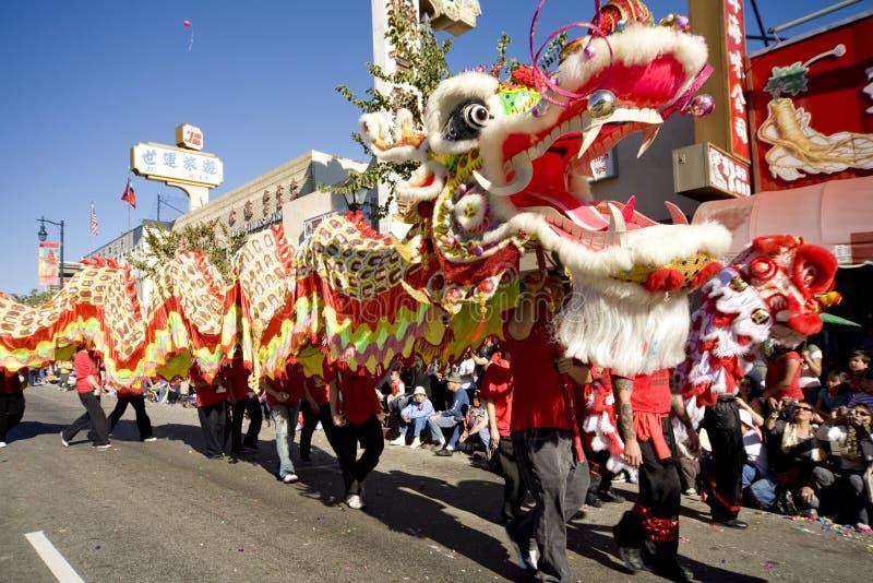 chiński 10 smoka parada w nowym roku zdjęcia royalty free