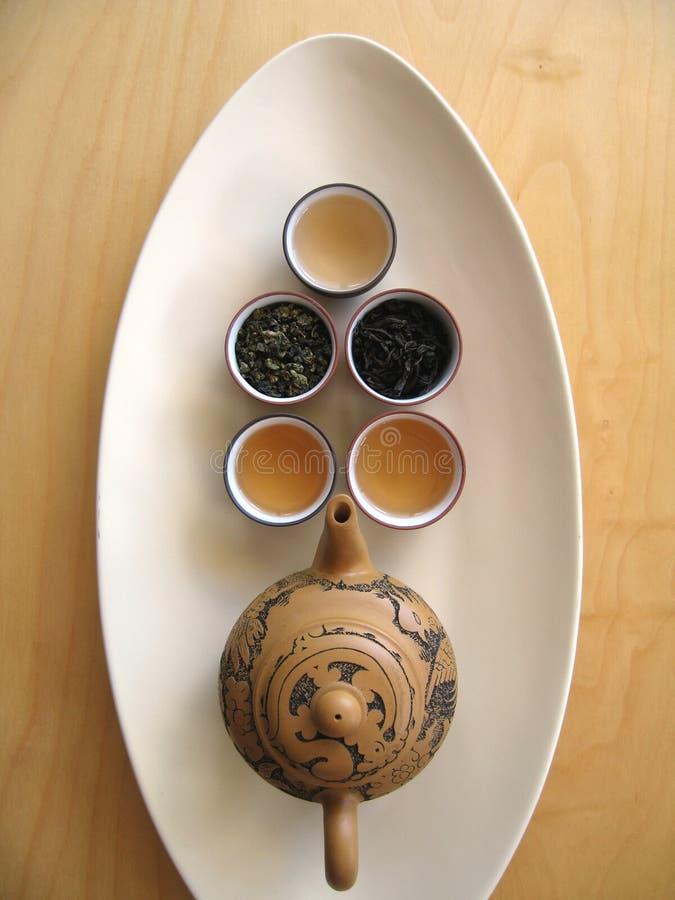 chiński 6 herbaty. zdjęcia royalty free