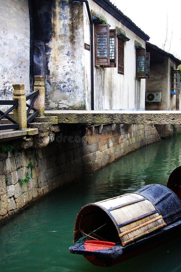 Chiński antyczny miasteczko Shaoxing fotografia royalty free