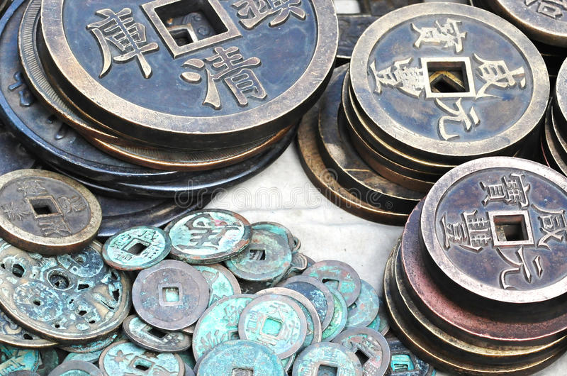 Chiński antyczny pieniądze zdjęcia royalty free