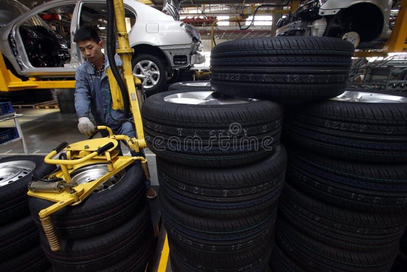 Chiński automobilowy zakład produkcyjny zdjęcie stock