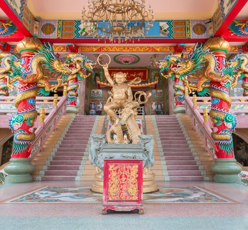 chiński bóg na świątyni zha obraz royalty free