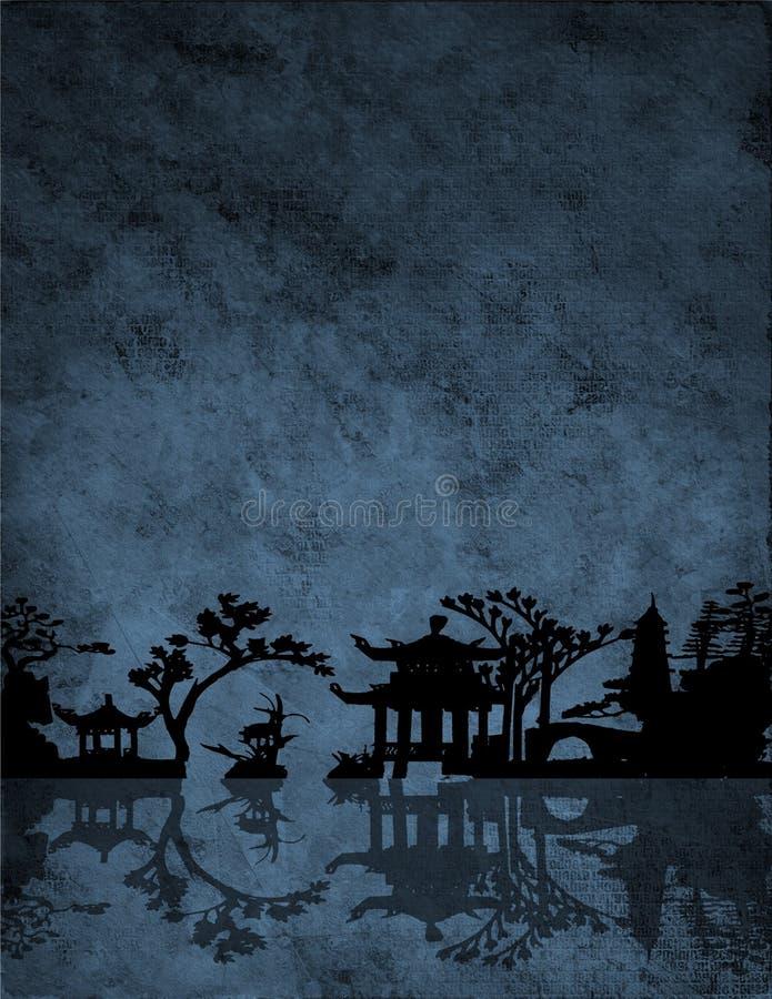 Chiński Błękit royalty ilustracja