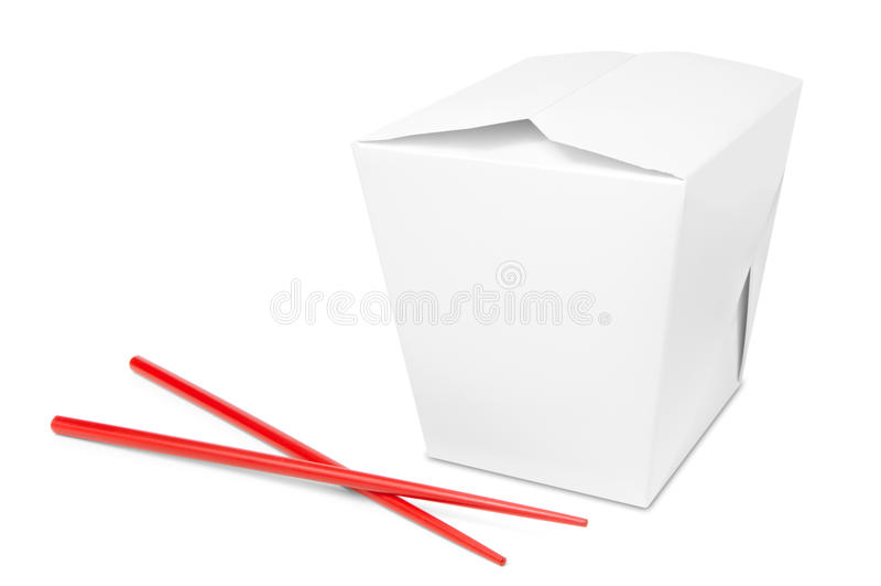Chiński bierze oddalonego jedzenia pudełko zdjęcie stock