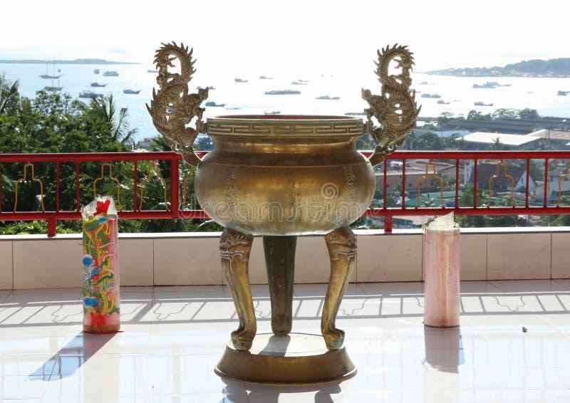 Chiński buddyjski garnek zdjęcia stock