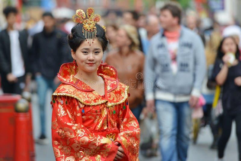 Chiński Busker w Londyn zdjęcie royalty free