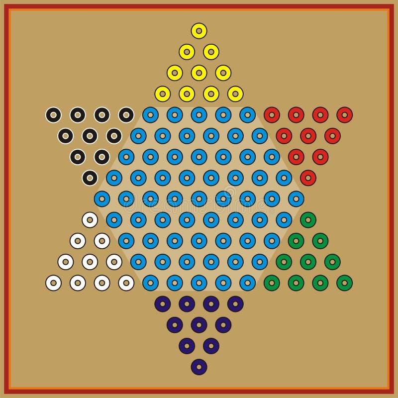 chiński checker daru odcisk royalty ilustracja