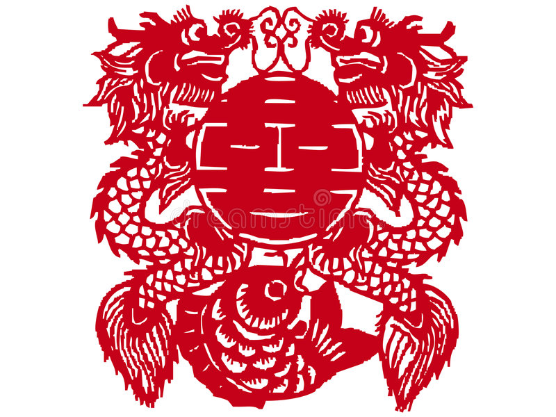 chiński cięcia papieru obrazy royalty free