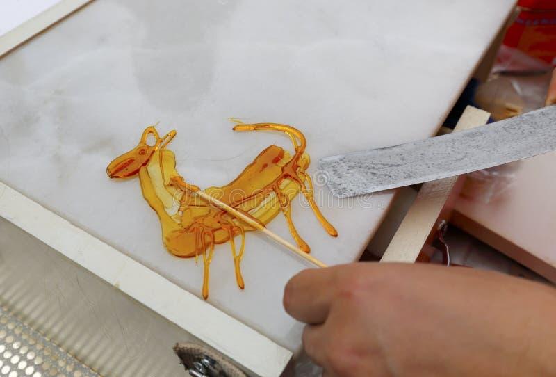 Chiński cukrowy obraz obrazy royalty free