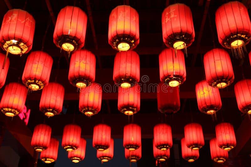 Chiński czerwony latarniowy Chiny obraz royalty free