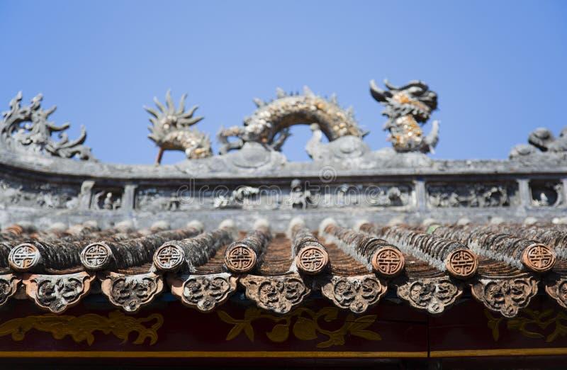 chiński dach obrazy royalty free