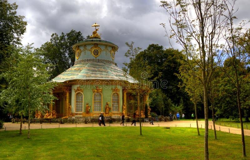 Chiński dom w Sanssouci królewskim parku w Potsdam zdjęcia stock