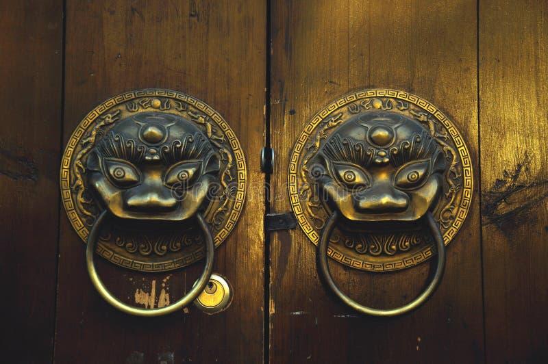 chiński drzwi obraz stock
