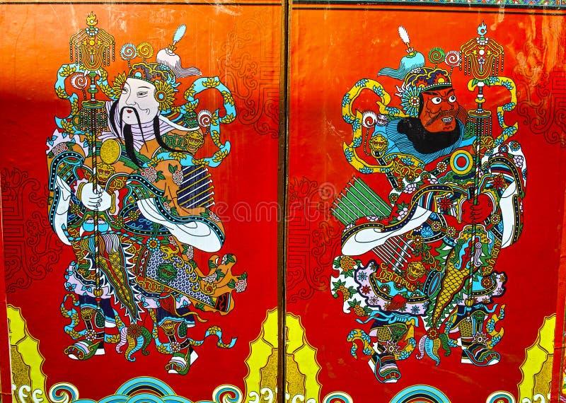 Chiński Drzwiowy bóg zdjęcie stock