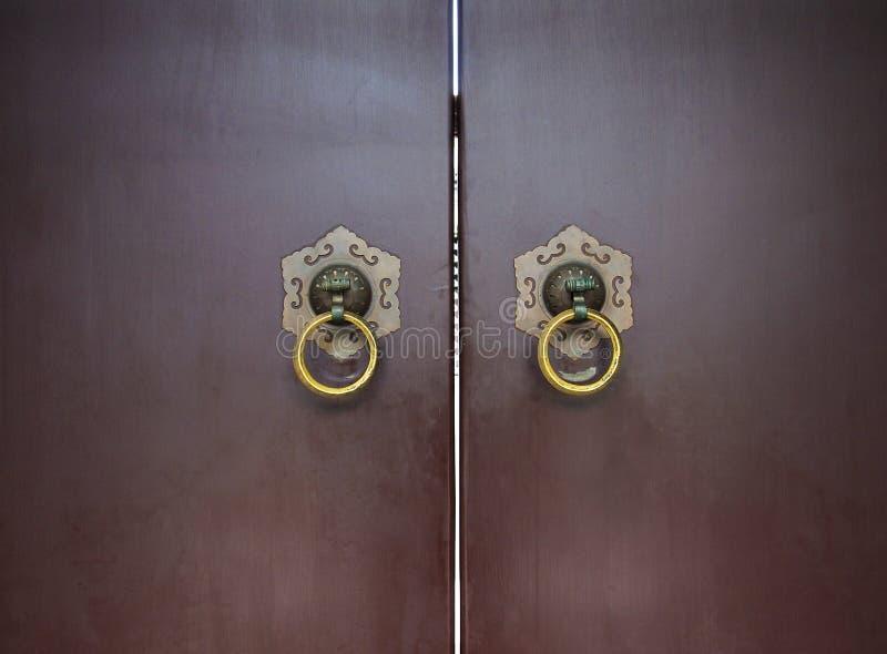 Chiński Drzwiowy Knocker zdjęcie royalty free