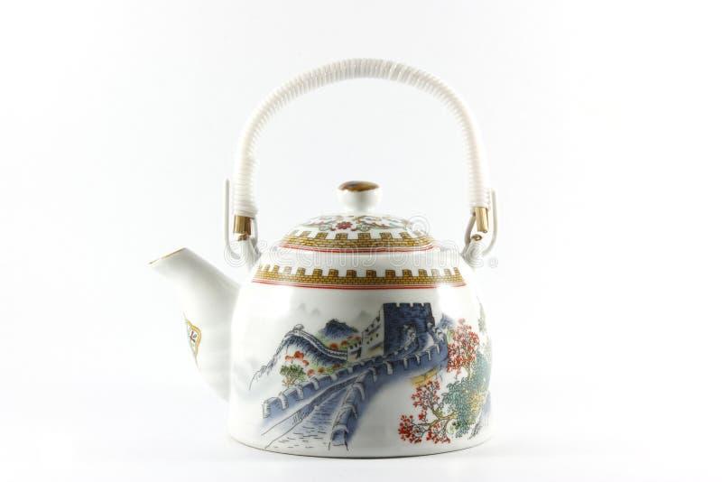 Chiński herbaciany garnek fotografia royalty free