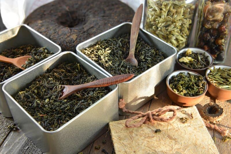 Chiński herbata sklepu pojęcie obrazy royalty free