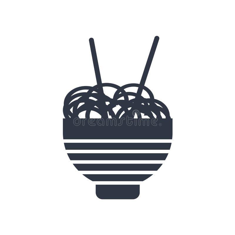 Chiński jedzenia pudełka ikony wektoru znak i symbol odizolowywający na białym tle, Chiński jedzenia pudełka logo pojęcie ilustracja wektor