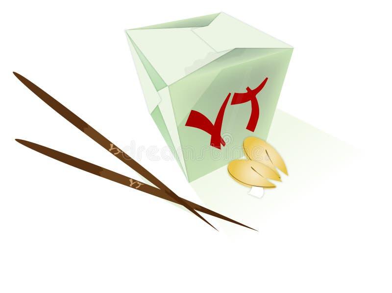 Chiński jedzenie ilustracji