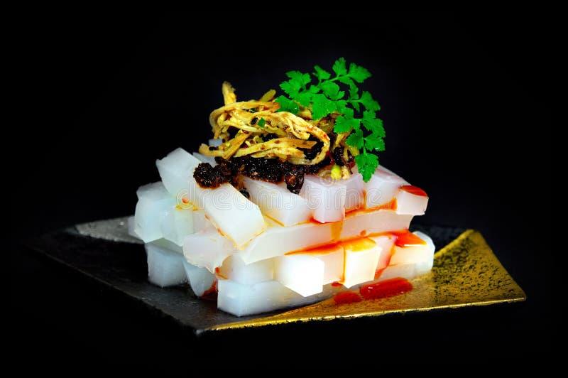 Chiński jedzenie na czerni fotografia stock