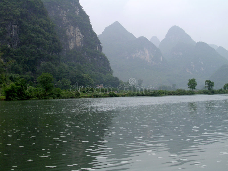chiński jeziora fotografia royalty free