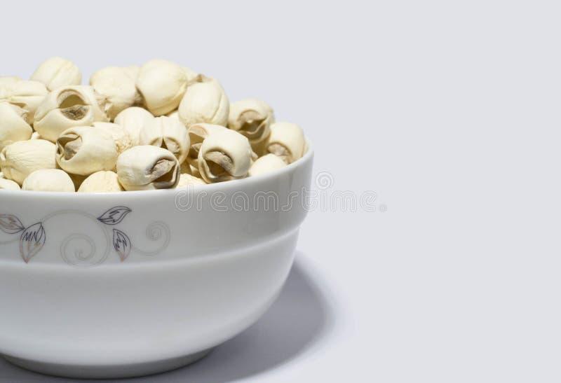 Chiński karmowy lotosu ziarno obraz stock